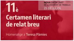 Nova data del certamen literari