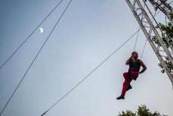 Espectacle de trapezi amb la companyia Volem Volar
