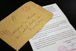 La carta rebuda des de Blangoua