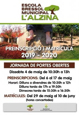 Jornada portes obertes Alzina 2019-2020