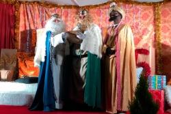Els tres Reis Mags, dirigint-se al poble de Santa Eulàlia